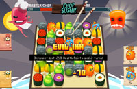 Screenshot do game Chop Sushi