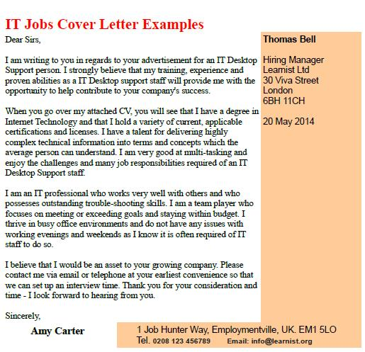 Administration Cover Letter Examples Uk