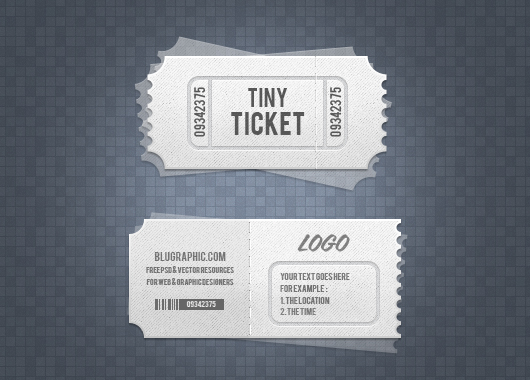 Entrance Ticket Template