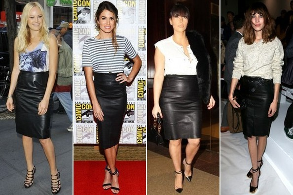 Black pencil skirt outfit ideas pictures - Suede Skirt Outfit ...