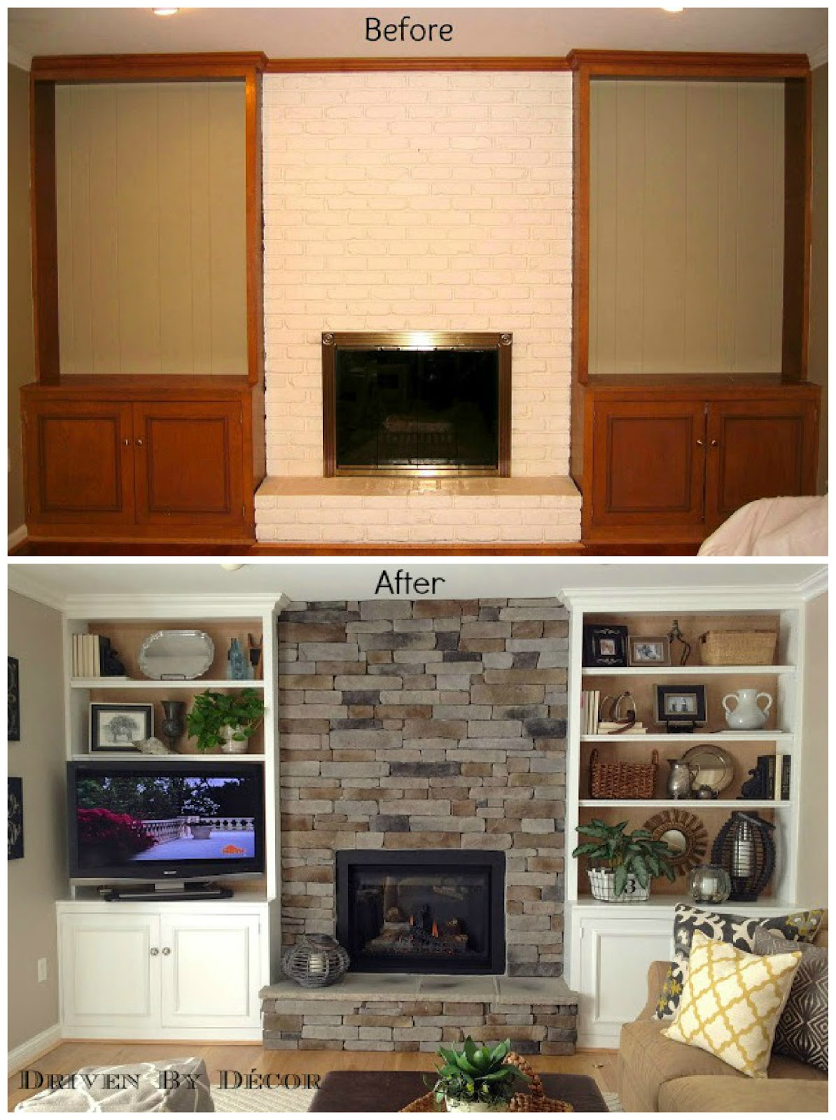 Bookshelves ideas next to fireplace for Bookcases next to fireplace
