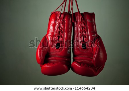 Boxing Gloves Hanging Wallpaper