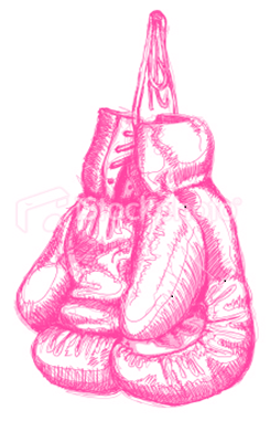 pink boxing gloves breast cancer have