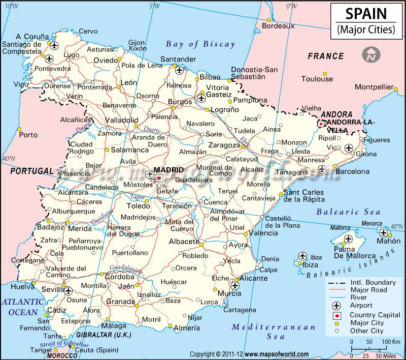 Map Of Spain  Best İmages The City