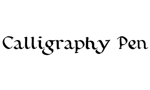 English Calligraphy Fonts Free Download