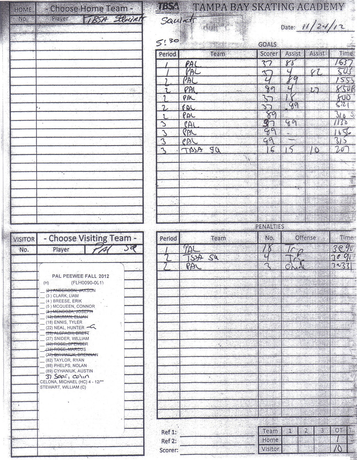 Fine Hockey Roster Template Pictures Room Rental Receipt
