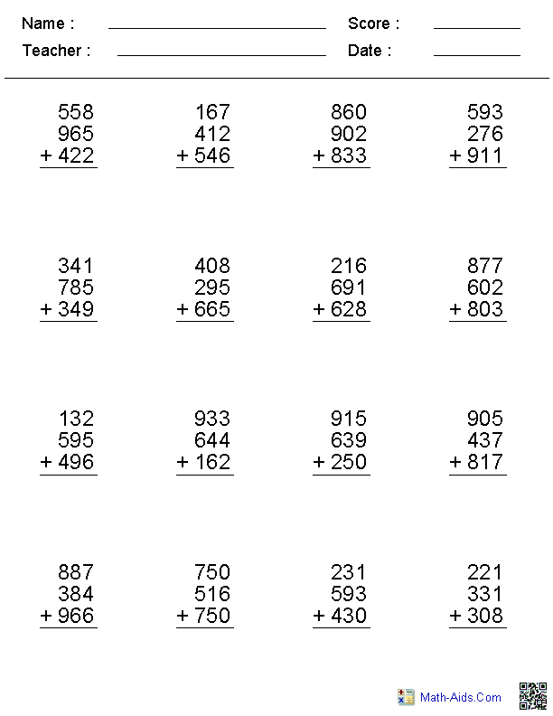 maths homework sheets year 4