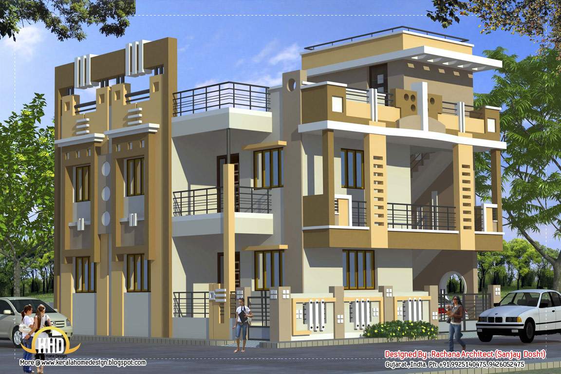 Indian home design photos exterior Pictures of exterior home designs in india