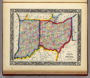 Map Of Indiana And Ohio Border