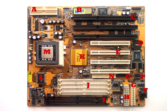 Motherboard Diagram With Labels