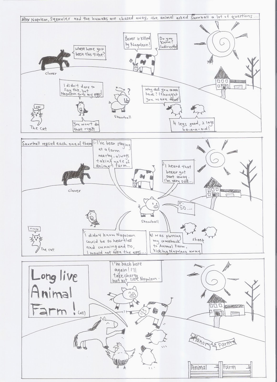 animal farm napoleon character essay Animal farm character analysis of napoleon animal farm: character analysis of napoleon by: george orwell book review by george lacy mrs spain fall '96 napoleon was a large rather fierce looking berkshire boar, that was spoiled and always got his way he was the only pig of the kind on the farm.