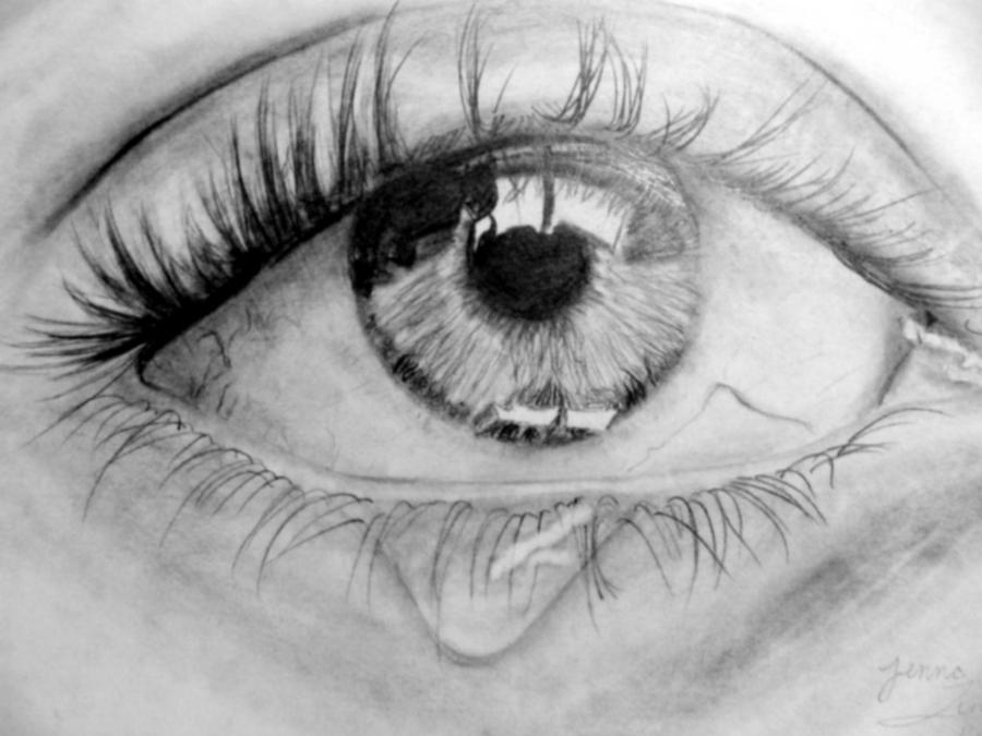 Pencil Drawings Of Eyes Crying