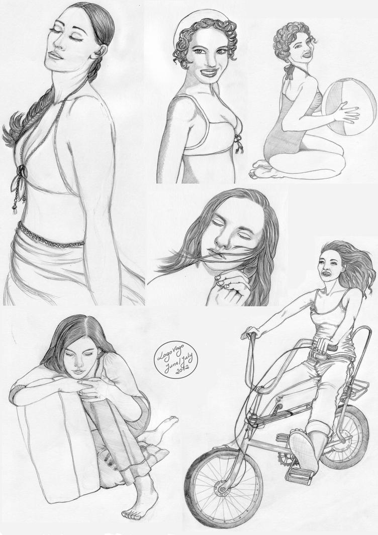 Pencil Sketches Of Girls And Boys