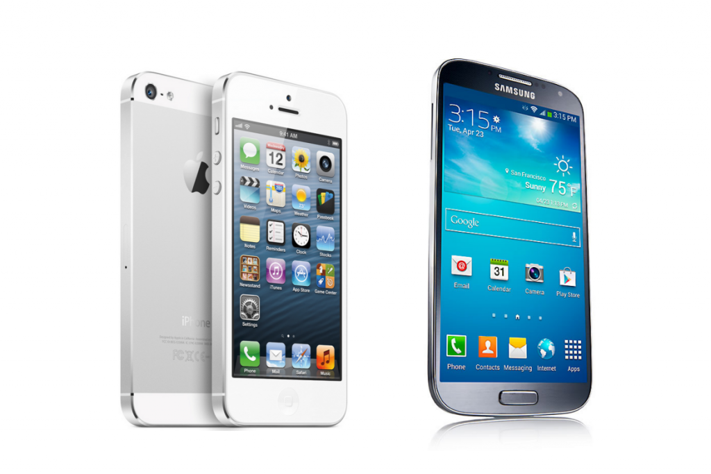 Samsung Galaxy S4 Vs Iphone 5 Specs