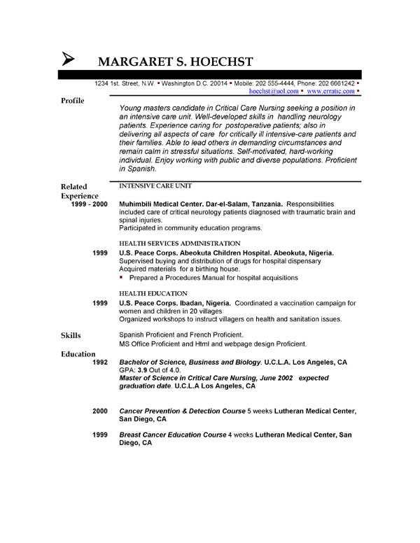 resume template objective example of objective in resumes resume template no work experience
