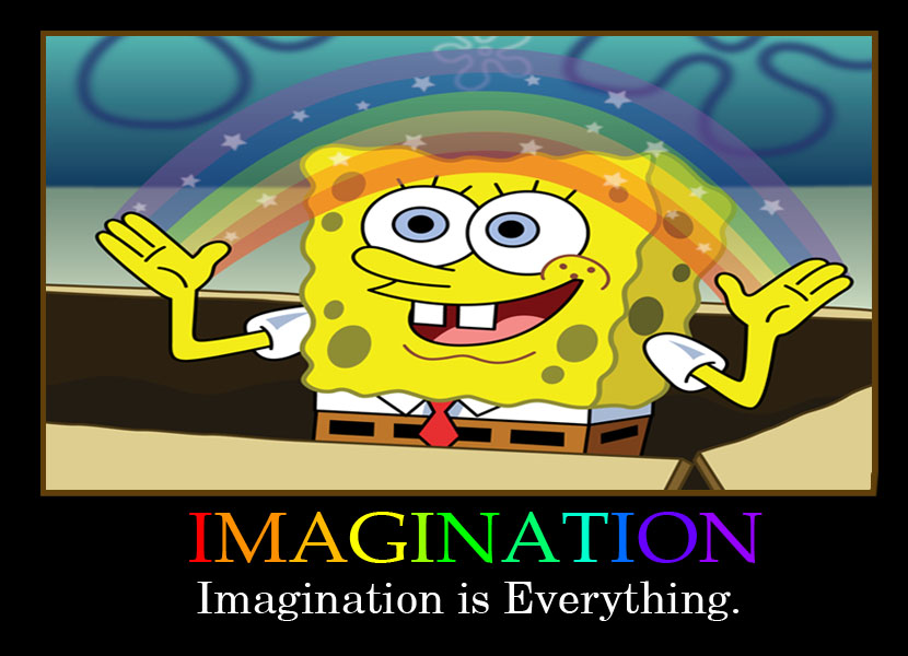 Spongebob Imagination Meme Blank