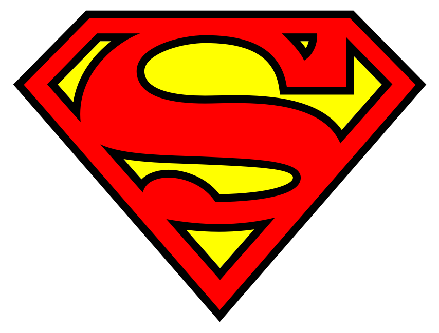 Superman Logo Black And Red Wallpaper