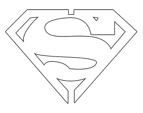 Superman Logo Outline J