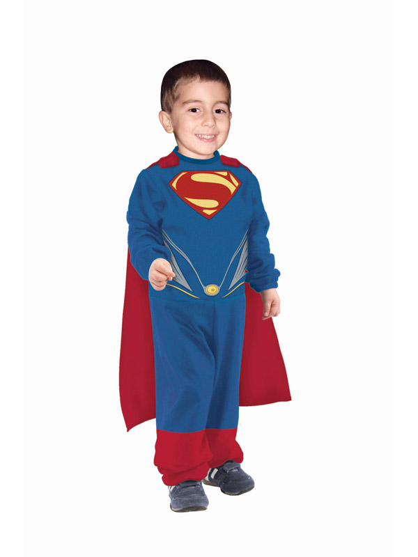 Superman Man Of Steel Costume For Kids