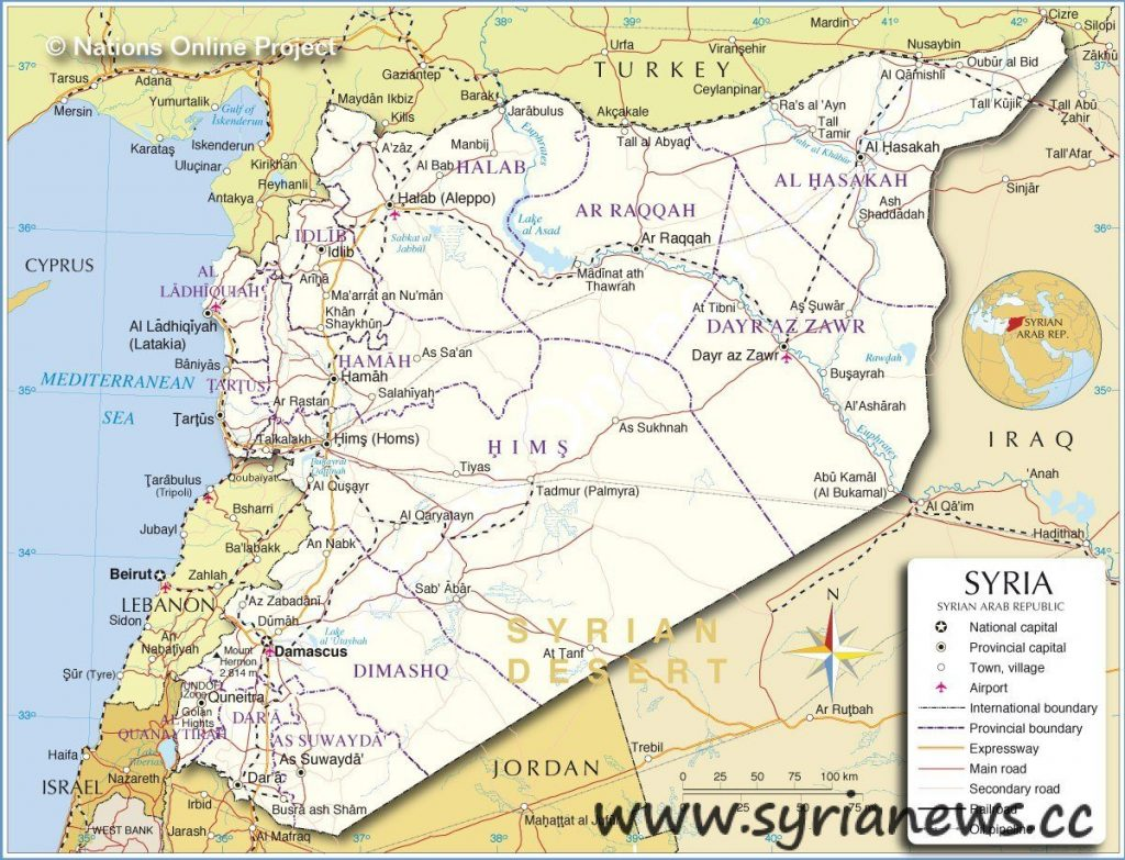 Syria Map War
