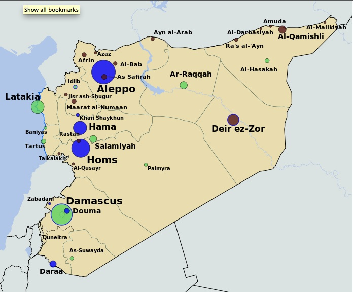 Syria War Map Today