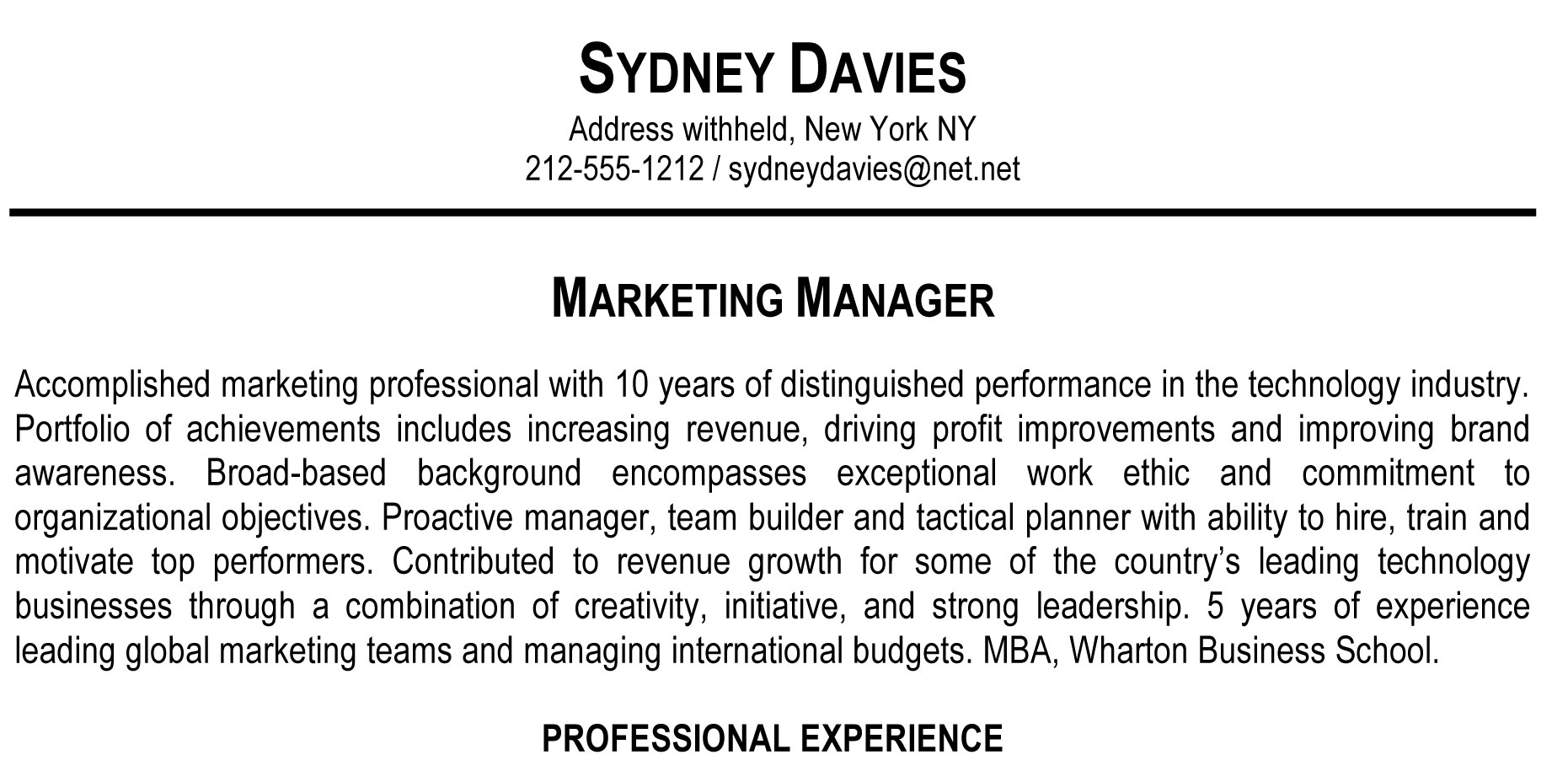 tagline examples for resume