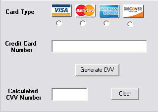 visa card code number